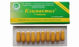 Свечи Феминелла и Климактол от сухости влагалища при менопаузе