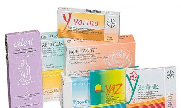 Таблица противозачаточных таблеток 20
